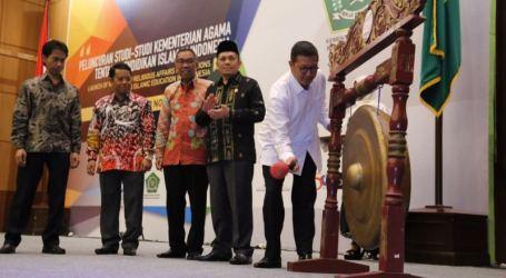 Menag Resmikan Peluncuran Studi-Studi Kemenag Tentang Pendidikan Islam di Indonesia