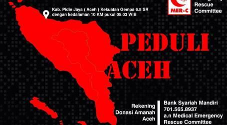 MER-C Kirim Relawan dan Tim Medis Bantu Korban Gempa Aceh
