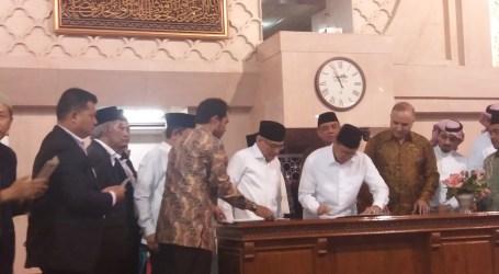 Kiswah Kabah Hadiah Raja Salman Dipasang di Masjid Istiqlal