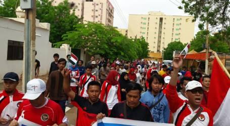 Ratusan WNI Ikut Jalan Sehat 10.000 Langkah Kemerdekaan di Sudan