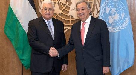 Presiden Palestina Bertemu dengan Sekjen PBB Antonio Guterrs