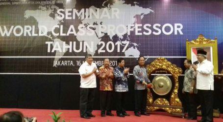 Kemenristekdikti Adakan Seminar World Class Professor 2017