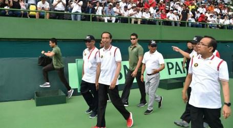 Jokowi Resmikan Renovasi Lapangan Tenis Glora Bung Karno