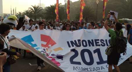 Wapres JK Buka Parade 100 Hari Menuju Asian Games 2018