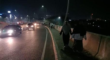 Gerak Jalan Cinta Al-Aqsha Bekasi Daki Jalan Menanjak