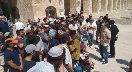 Puluhan Pemukim Yahudi Nodai Masjid Al-Aqsa