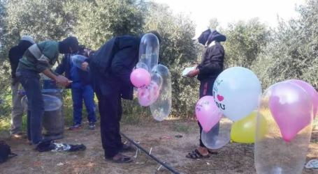 Makin Banyak Balon Pembakar Diterbangkan dari Gaza, Israel Balas