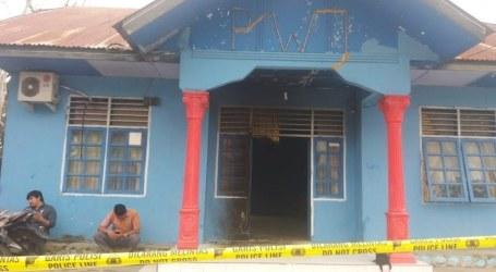 Kantor PWI Aceh Tenggara Dibakar