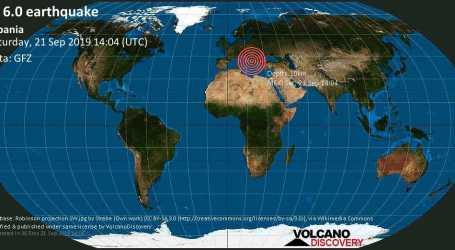 Gempa Kuat Guncang Albania