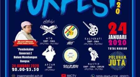Sekolah Islam Terpadu Insan Mandiri Cibubur akan Gelar FORFEST 2020