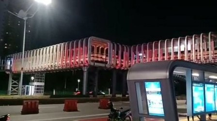 DKI: Tata Cahaya Merah Putih Simbol Penghargaan untuk Tenaga Medis