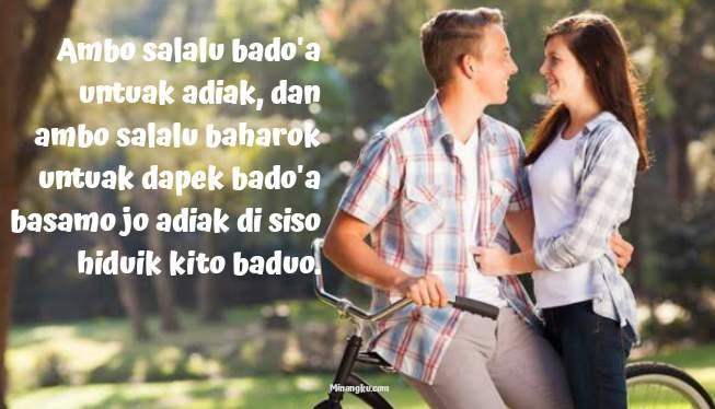 Kata kata cinta bahasa Minang dan artinya