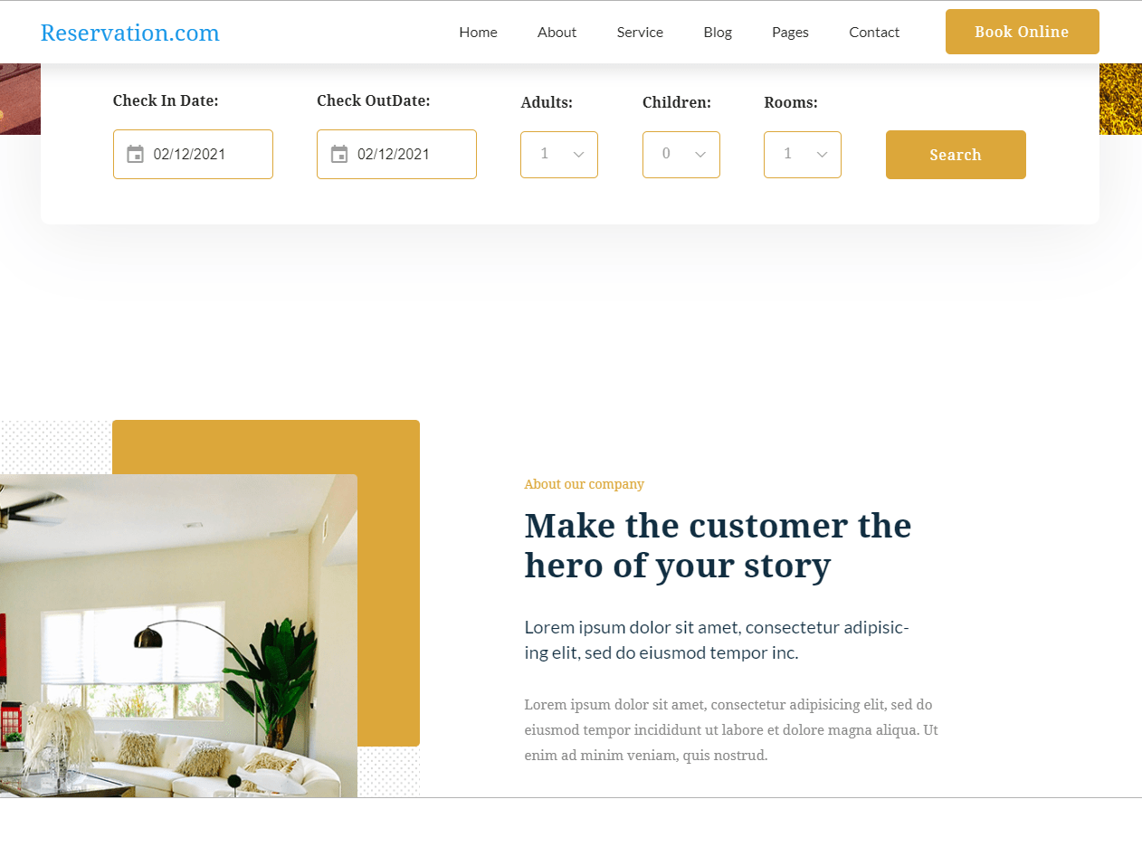 Hotel Booking Website with PHP Mysql