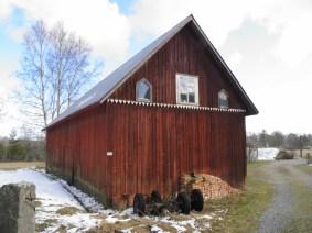 Äldre ladugårdsbyggnad i Brobacka soldatboställe under Ingemarstorp (Agnetorp) där soldat 894 Jean Tiberg levde.