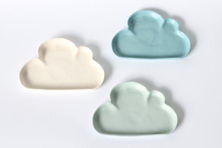 plats céramique nuage