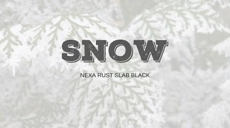 Xmas Typo Snow