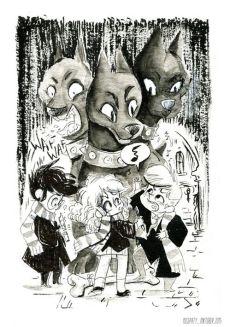 harry-potter-inktober-misspaty-sketch-ron-hermione-harry
