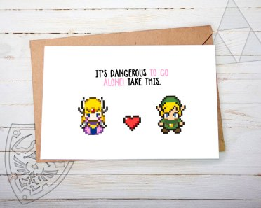 Carte St Valentin Legend of Zelda - playerNo2