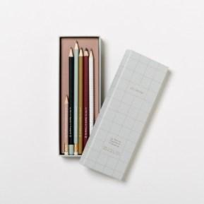 set-de-6-crayons-a-papier-assortis-blanc