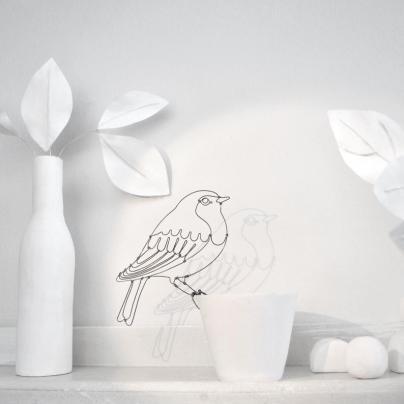 Sculpture fil oiseau