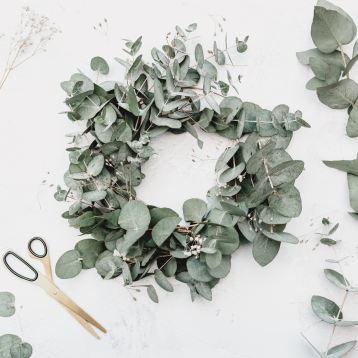 couronne noel eucaplyptus