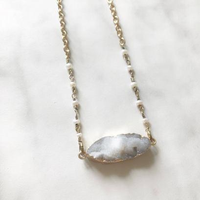 Collier quartz - Les bijoux de Joe