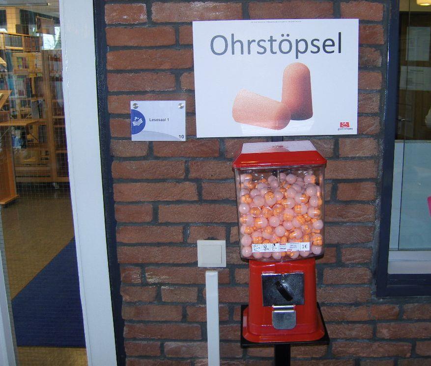 Neuer Service: Ohrstöpsel-Automat