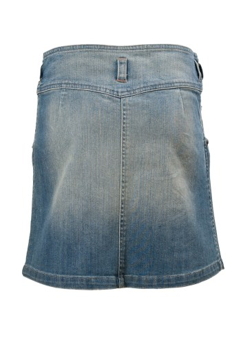 Arizona Falls Knee Length Girls Skirt in Blue Denim