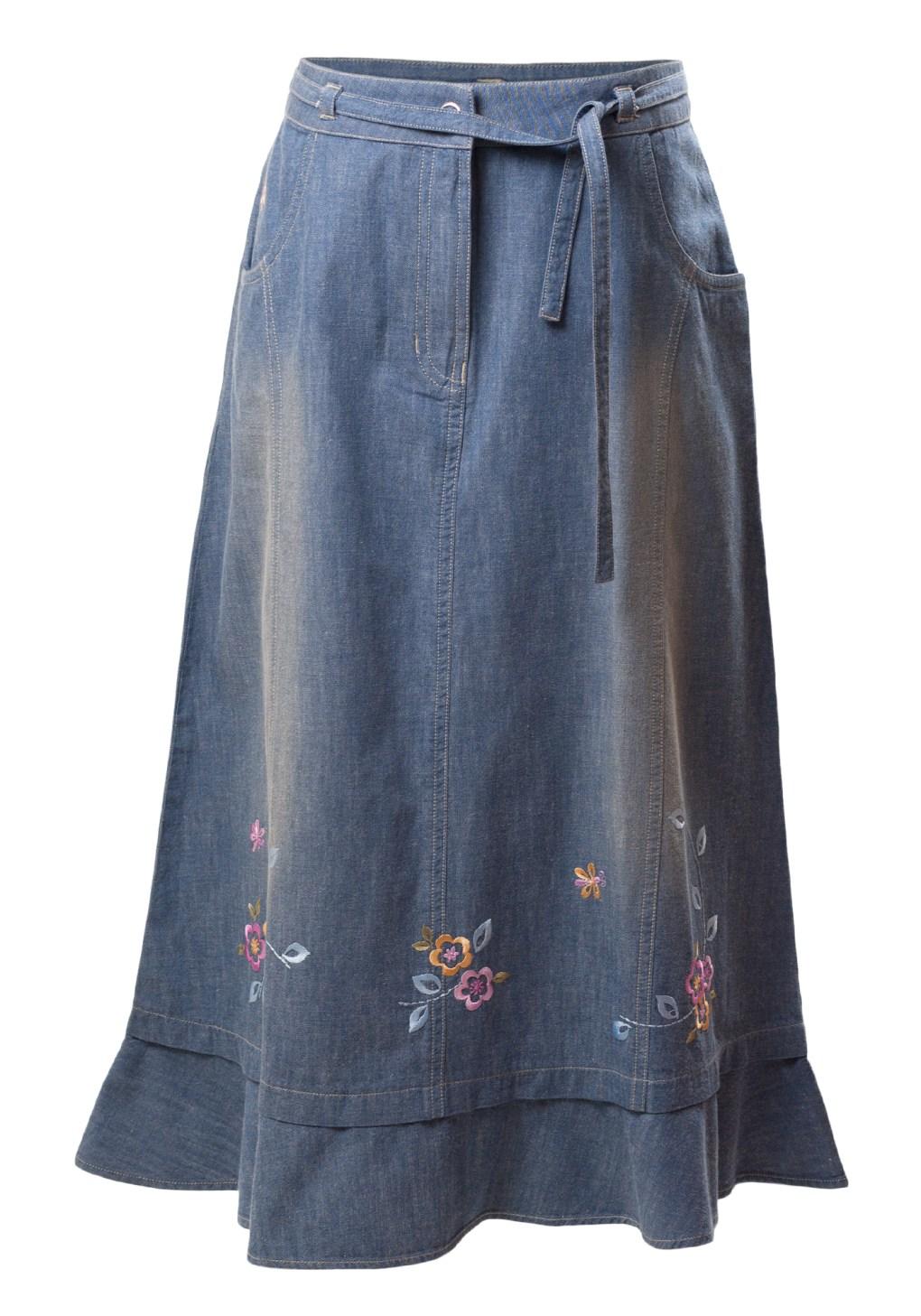 Chic Downtown Detroit Girls Denim Skirt