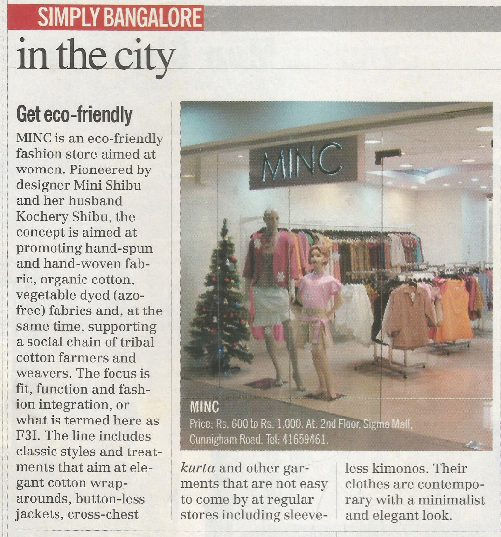 India Today featuring MINC in Get eco friendly
