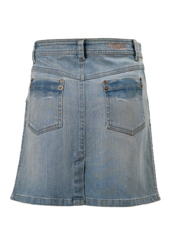 Texas Girls Skirt in Blue Denim