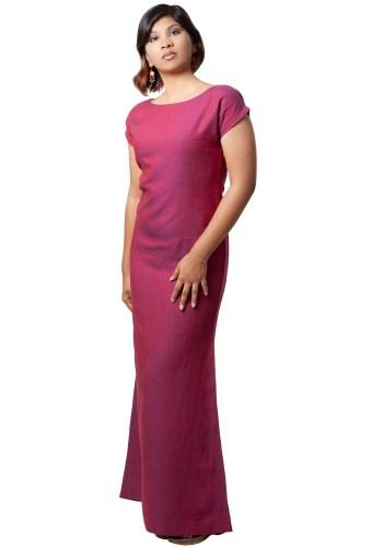 MINC ecofashion Sugar Plum Ankle Length Linen Dress