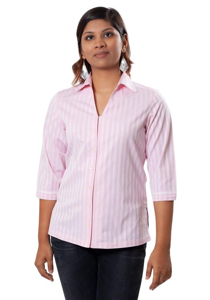 MINC Classic Striped Pink Cotton Shirt