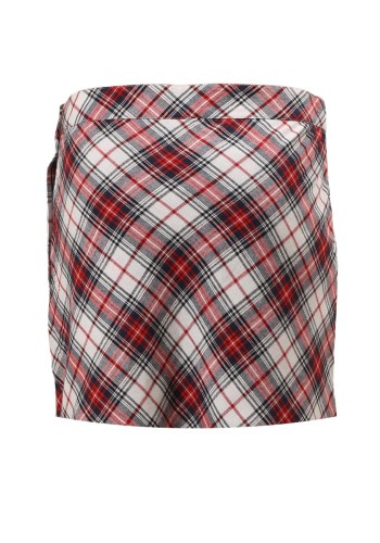 MINC Petite Tartan Girls Skorts in Red, White and Blue Cotton Checks