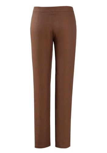MINC Womens Narrow Trousers in Brown Linen