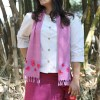 MINC Verbena Hand Embroidered Purple Khadi Cotton Scarf