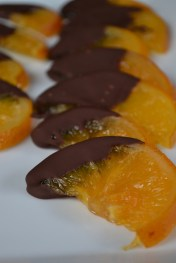 Candied Orange Slices Dipped in Chocolate