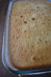 Baked yellow Cake