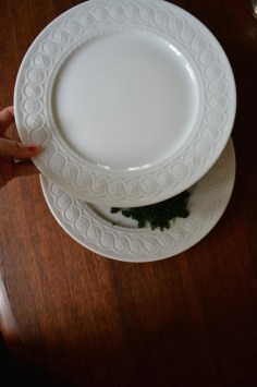 Step 2 - Place a plate on top