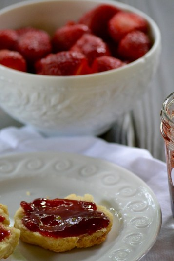 Strawberry and Balsamic Jam on Biscuits (www.mincedblog.com)