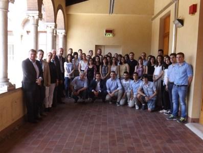 I giovani premiati con i componenti la commissione del Premio Franchetti