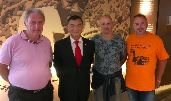 Da sinistra, Segalini, Zhu Yuhua, Vincenzi e Stevanini