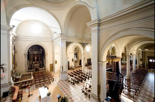 Interno della chiesa di sant'Erasmo