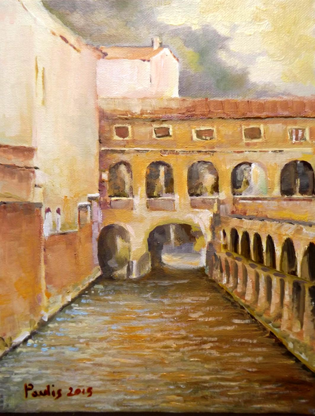 Natale Paulis - LungoRio - dipinto a olio