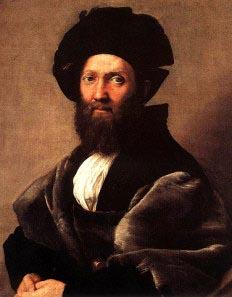 Baldassarre_Castiglione - olio su tela - Raffaello (1514-1515) Museo del Louvre