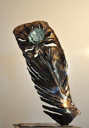 BENETTON SIMON, Icona Gemma di Luce 2016, acciaio e cristallo lavorato a scheggia, h. 54,5 cm (200).jpg