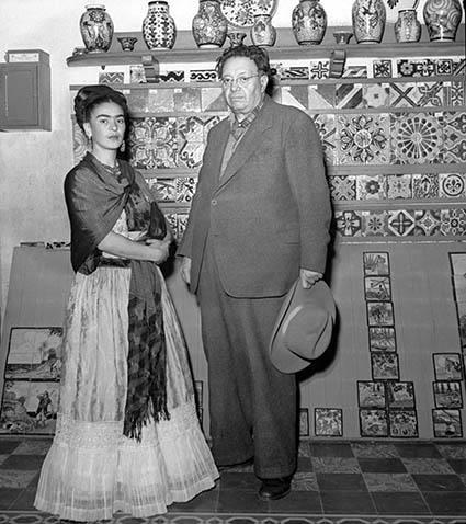 FRIDA KAHLO Y DIEGO RIVERA - COYOACÁN, MÉXICO 1943