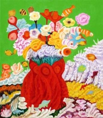 Mattei Mario - I fiori del Pianeta degli Oceani Marini_ 2009 - 80x70 (200).jpg