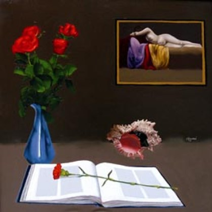 NIGIANI Impero, Interno con fiori, 2016, olio su tela, 60x60 (200).jpg
