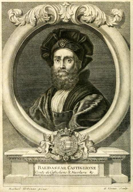 Ritrattro del Castiglione da libro de Il Cortegiano.3
